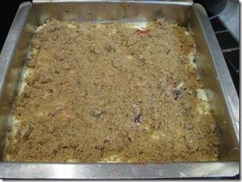 baking the raspberry cheesecake bars