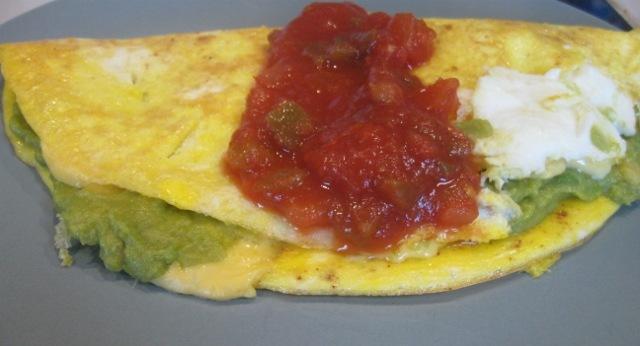 National Guacamole Day–Guacamole Cheese Omelet Recipe