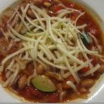 Vegetarian Chili with Zucchini and Abodo Sauce