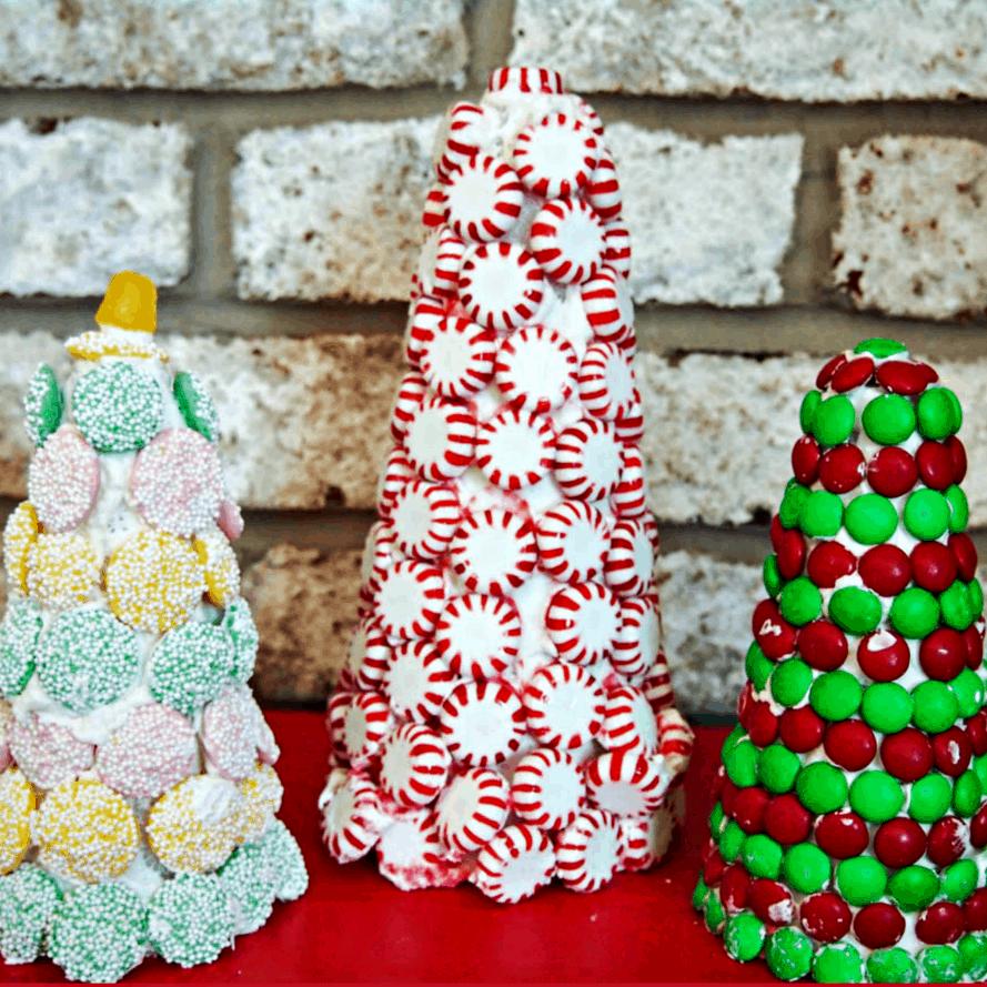 Sample Christmas Tree Decorating Ideas: Candy Christmas Trees- Upstate Ramblings
