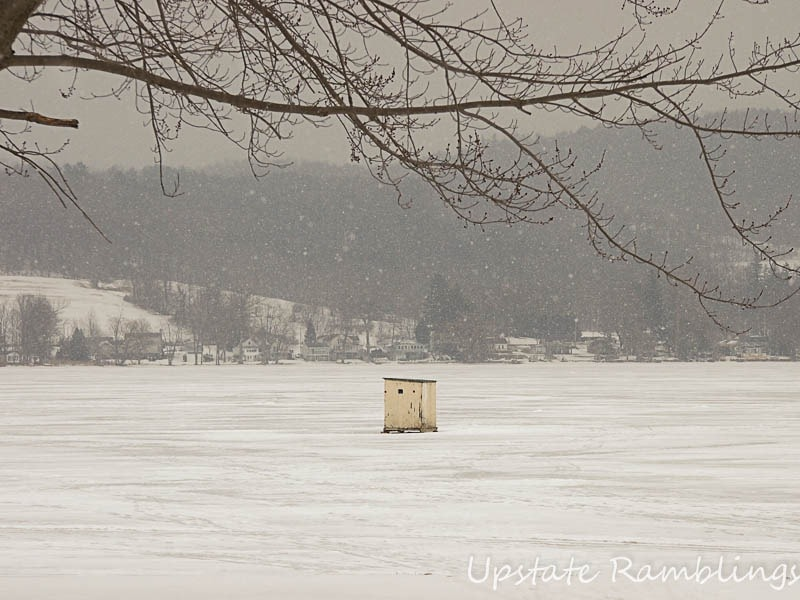 Wordless wednesday ice fishing upstate ramblings for Ice fishing ny
