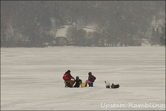 Family Ice fishing fun