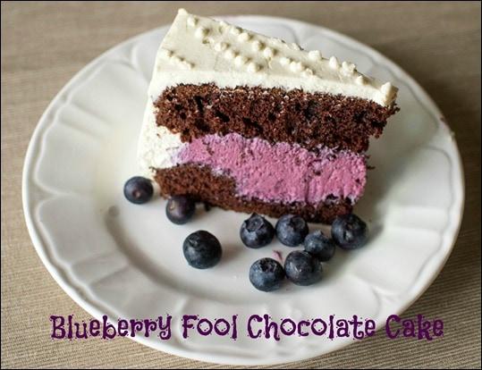 Blueberry Fool Chocolate Cake Recipe - Upstate Ramblings