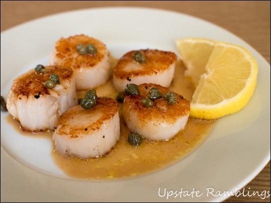 Seared Scallops with Lemon Caper Sauce #shop #STAROliveOil