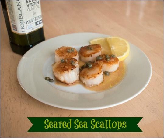 Seared Sea Scallops with Lemon Caper Sauce #shop #STAROliveOil