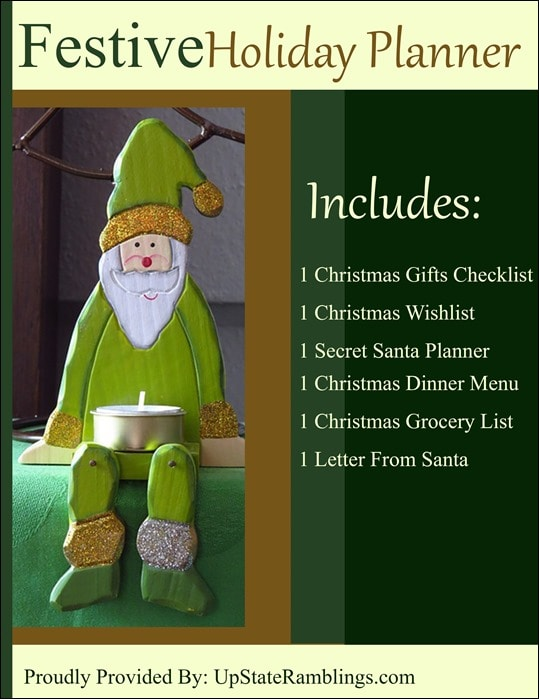 Get organized this Christmas - Free Printable Holiday Planner from UpstateRamblings.com #free #printable