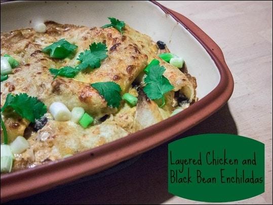 Layered Chicken and Black Bean Enchilada Casserole from Kraft
