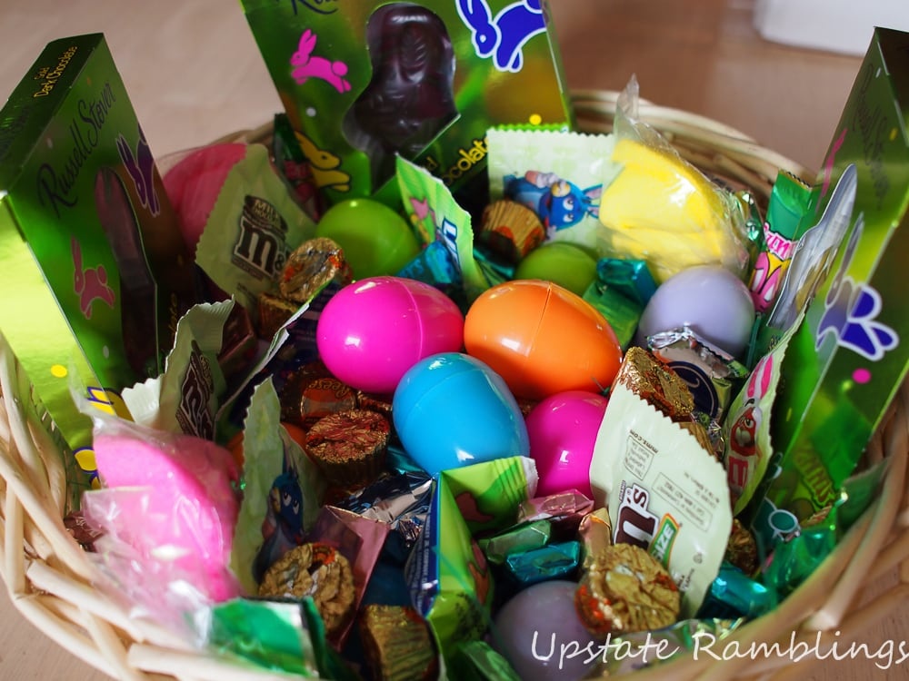 Easter baskets and coupons easter deals hunt giveaway easter basket full of candy negle Choice Image