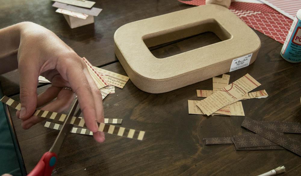 Decorating Paper Mache letters