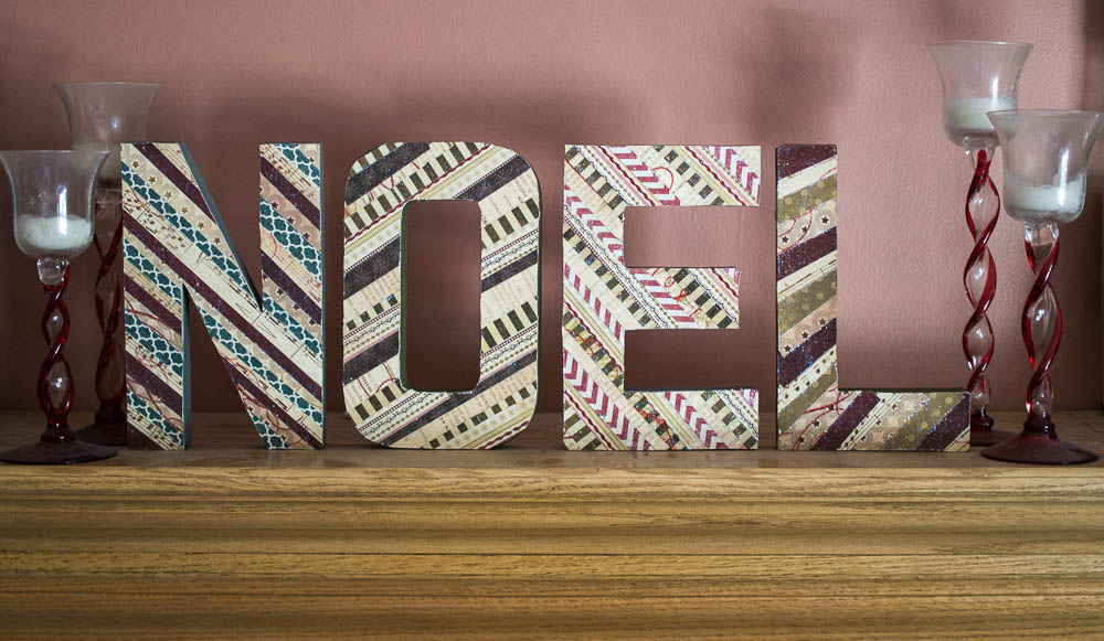 Decorated Letters - Christmas in July