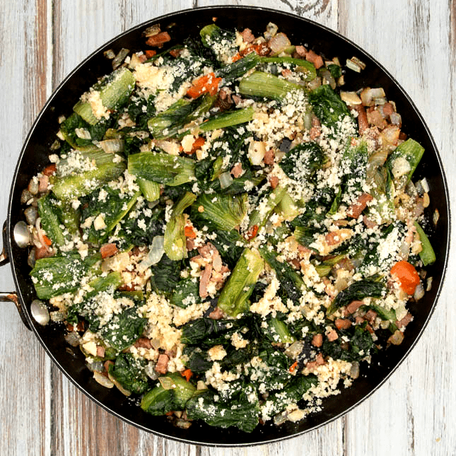Utica Greens - Italian-American dish featuring escarole, hot peppers and garlic