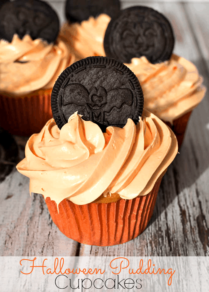 Halloween snack pack pudding cupcakes upstate ramblings for How to make halloween cupcakes from scratch