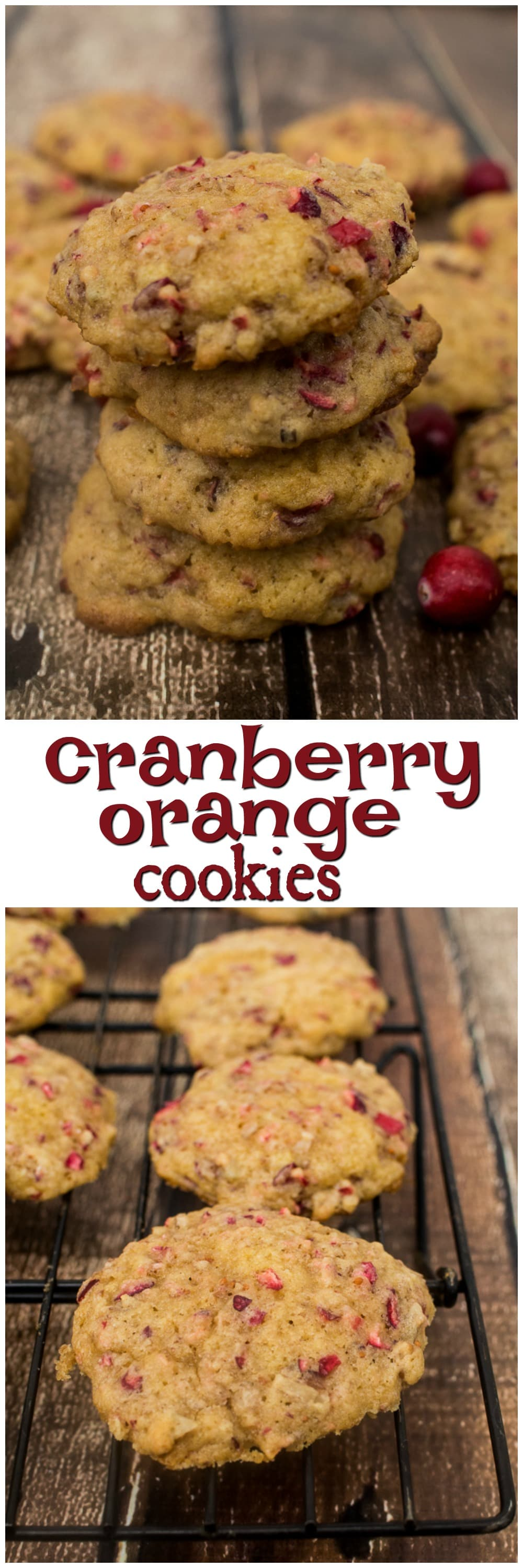 Cranberry Orange Cookies | Christmas Cookies | Holiday Cookies | Homemade Recipes for the Holidays | Cookie Exchange