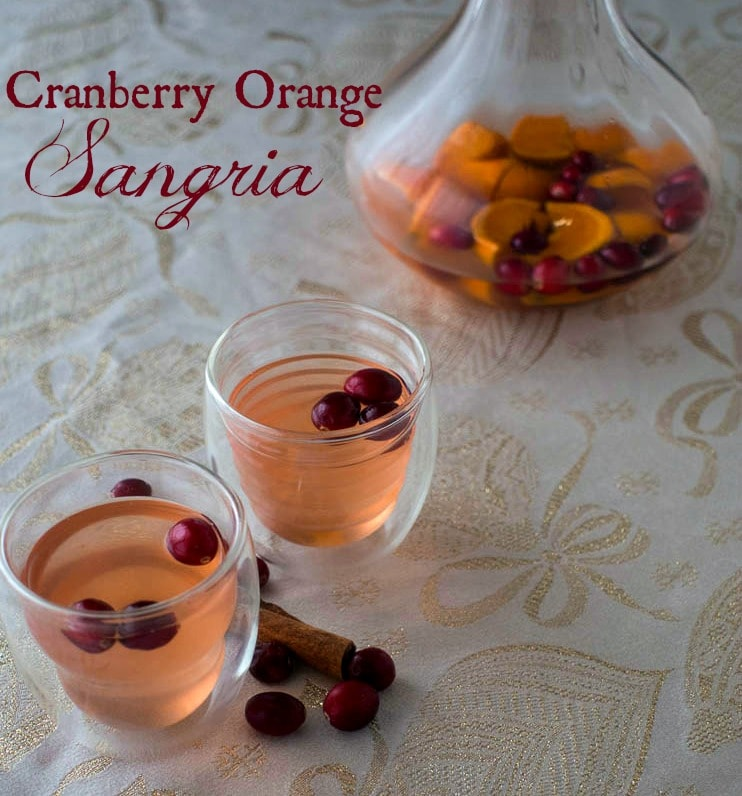 Cranberry Orange Sangria - Easy Holiday Cocktail