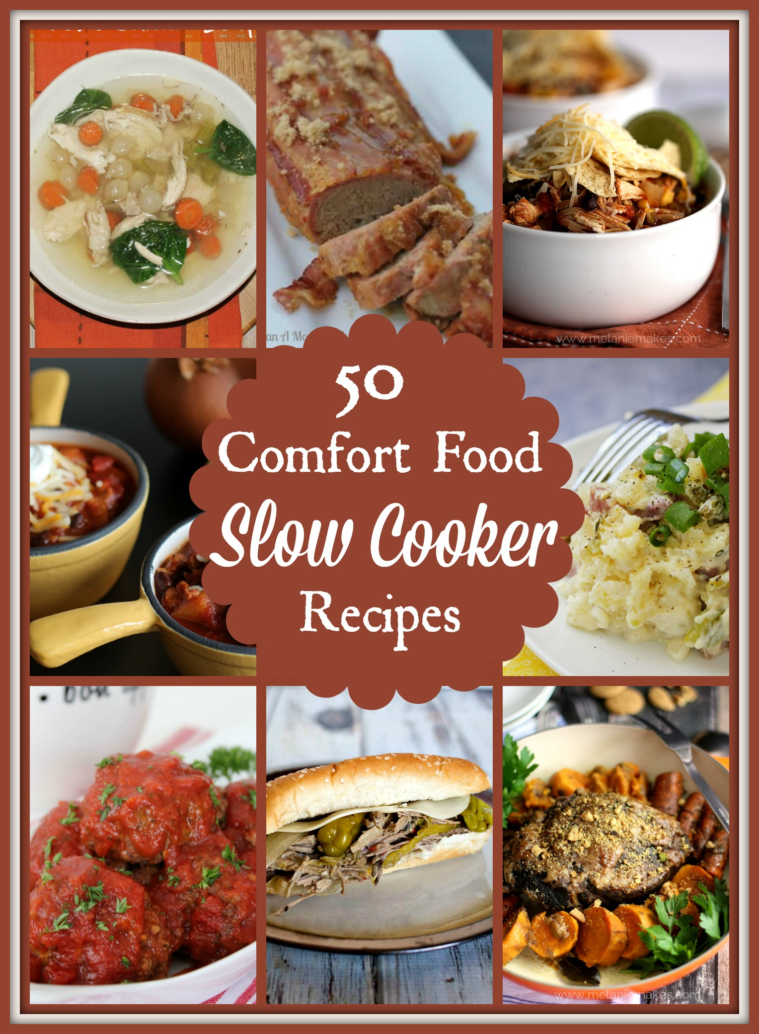 50 Comfort Food Slow Cooker Recipes - Easy comfort food you can make ahead in your crockpot.