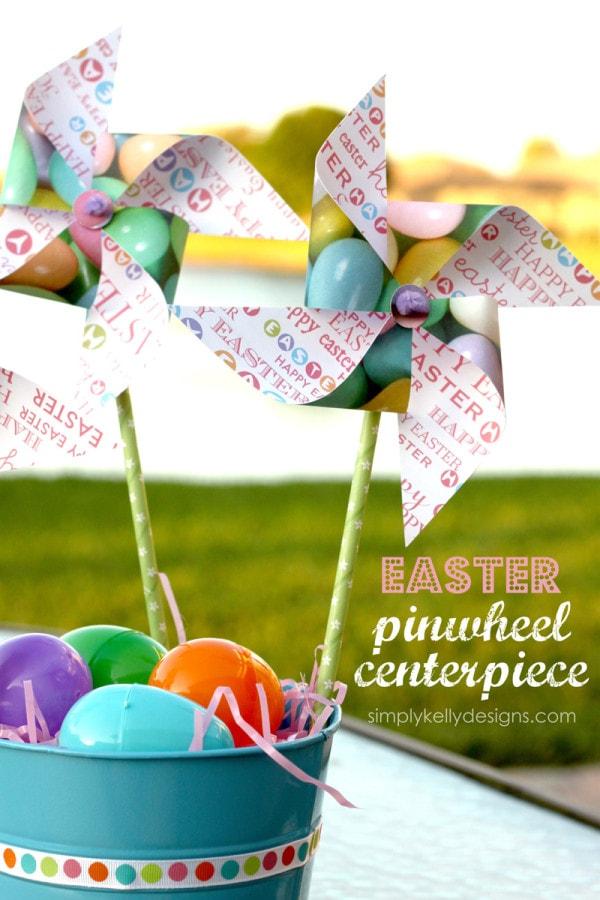 Easter Pinwheel Centerpiece