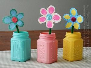 Spring Textured jars