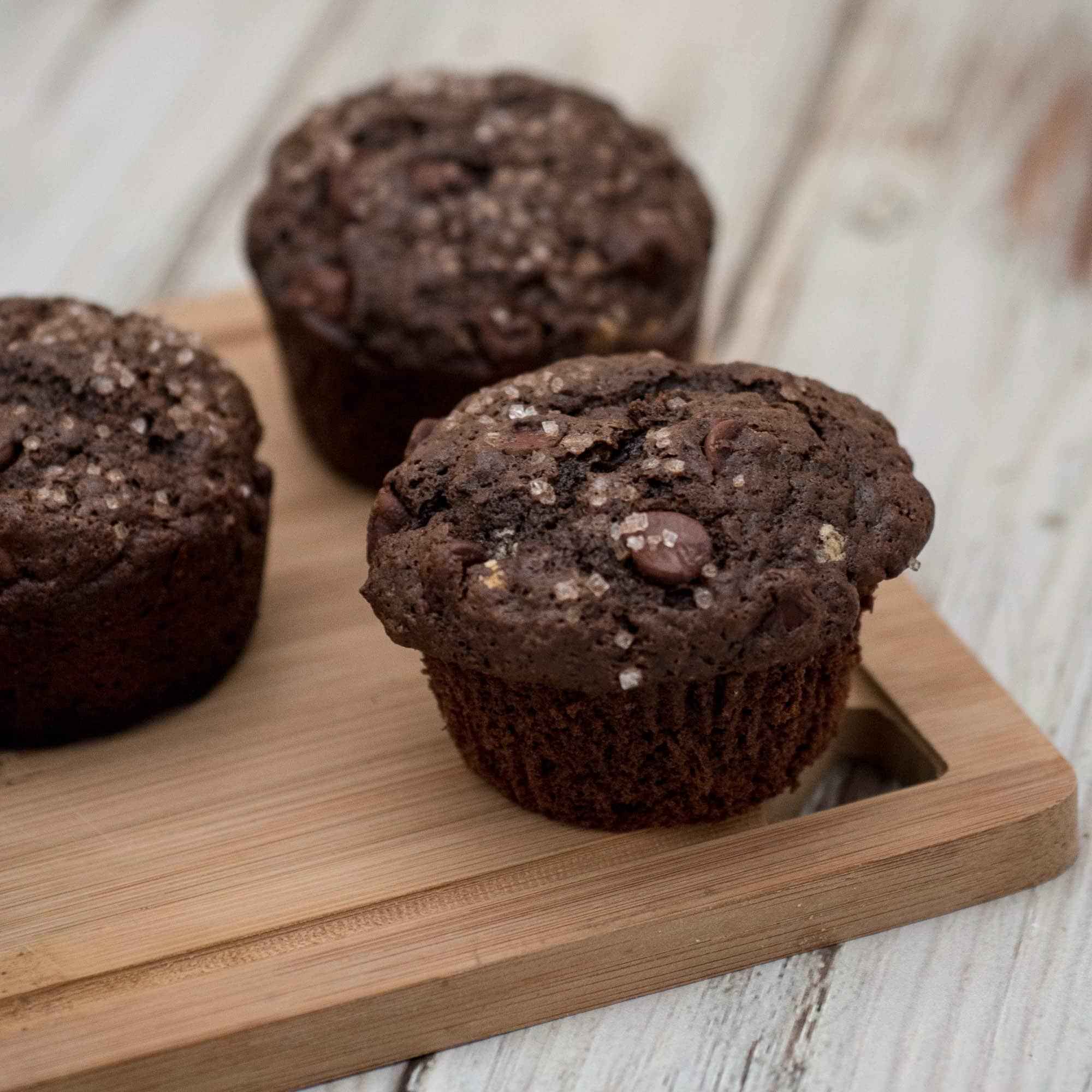 Double Chocolate Muffins - Upstate Ramblings