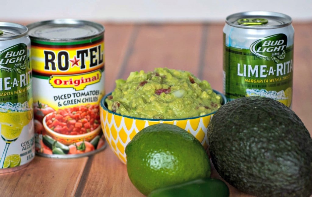 RO*TEL Rockin' Guac and Bud Light Lime-a-Rita - perfect for Cinqo de mayo