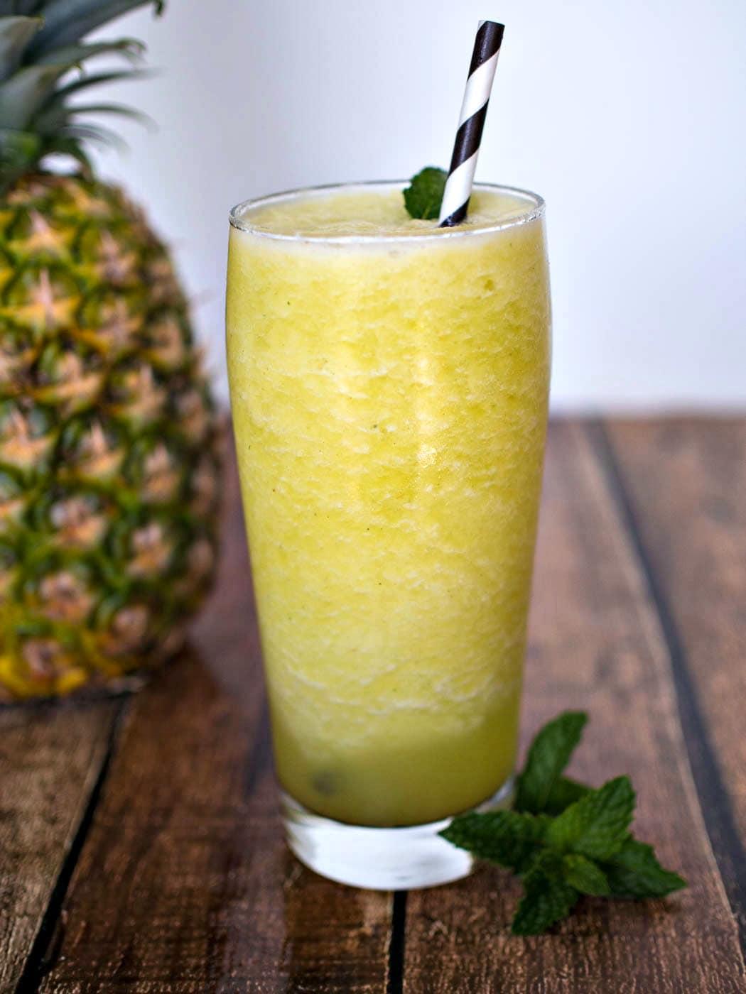 Pineapple Mint Smoothie- Upstate Ramblings