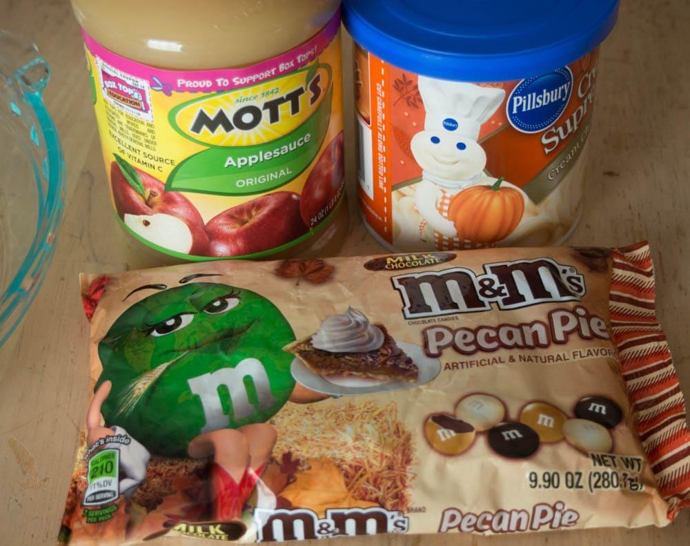 Ingredients for Pecan Cookie Pie