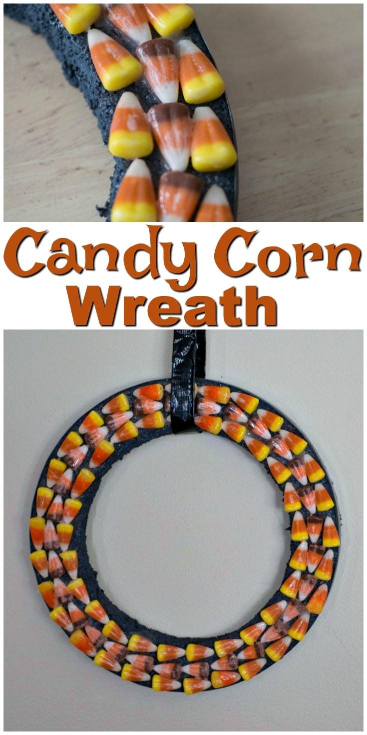 Candy Corn Wreath | Easy Halloween decorations | Candy Corn DIY | Halloween DIY | Door Hangers | Fun Halloween Decoration | Fall DIY