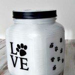 Doggie Treat Jar and Healthy Snacks