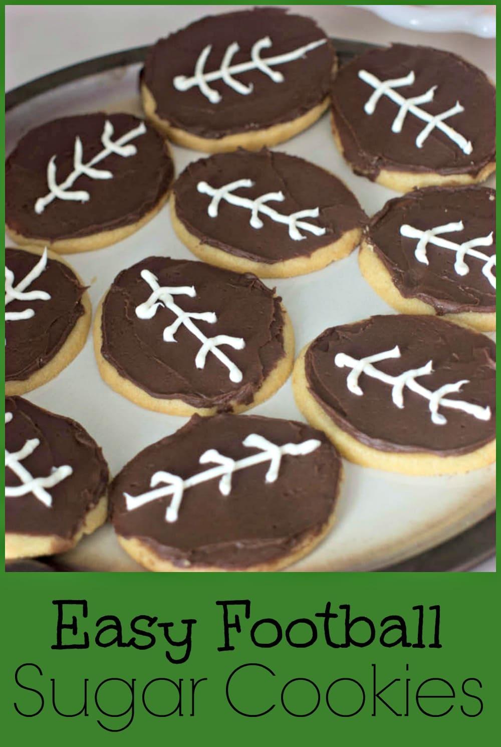 Easy Football Sugar Cookies