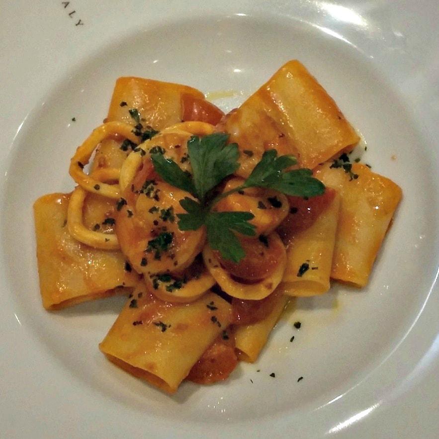 Seafood Pasta on cruise