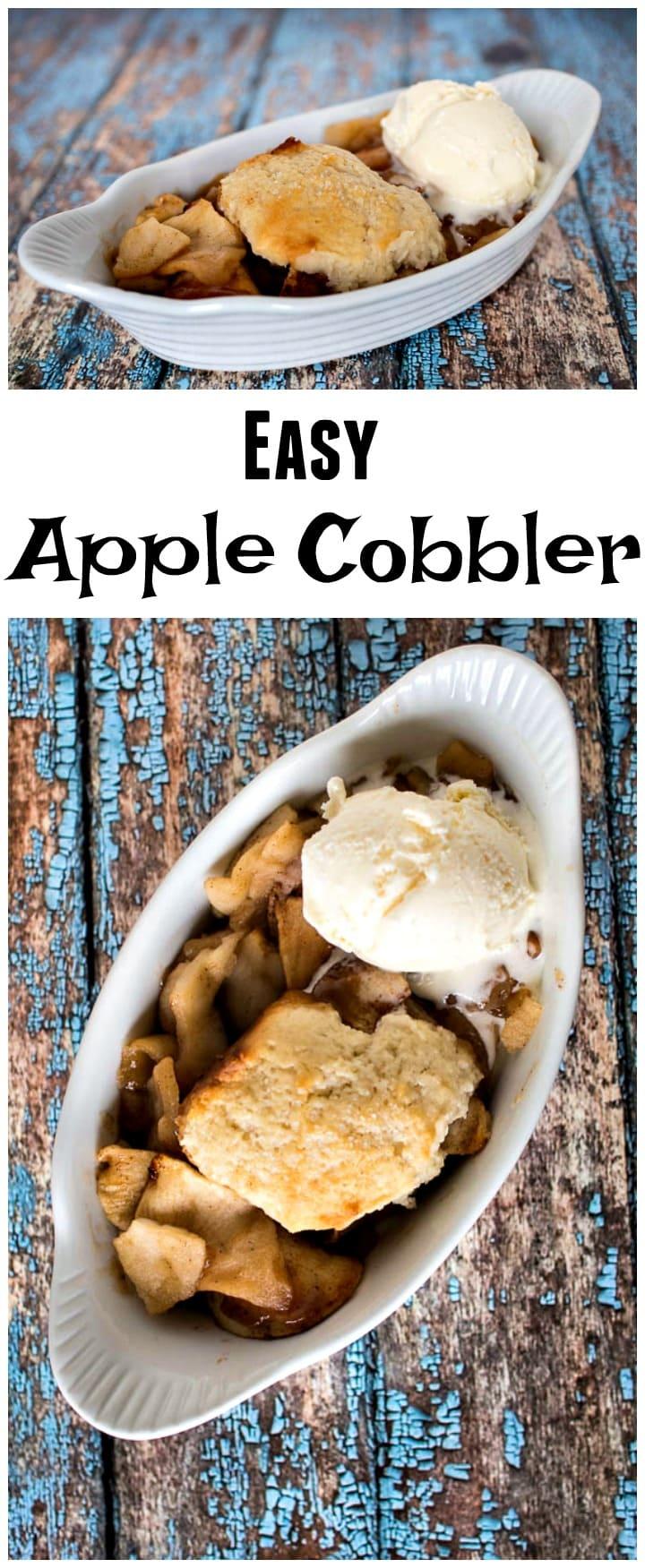 Easy Apple Cobbler Recipe | Apple Cobbler from Scratch | Homemade Apple Cobbler | Southern Apple Cobbler