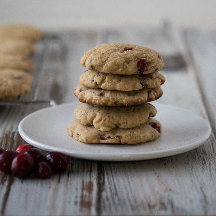 Cranberry Cookies | Cranberry Walnut Cookies | Seasonal Cookie Recipes | Holiday Baking | Thanksgiving Cookies