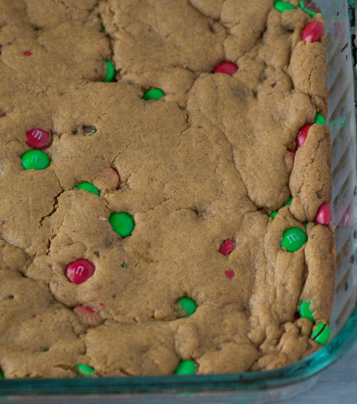 Gingerbread Bars | Easy Gingerbread Bars Recipe | Chewy Bars | Cookie Bars with M&M's | Holiday Baking | Christmas Cookies