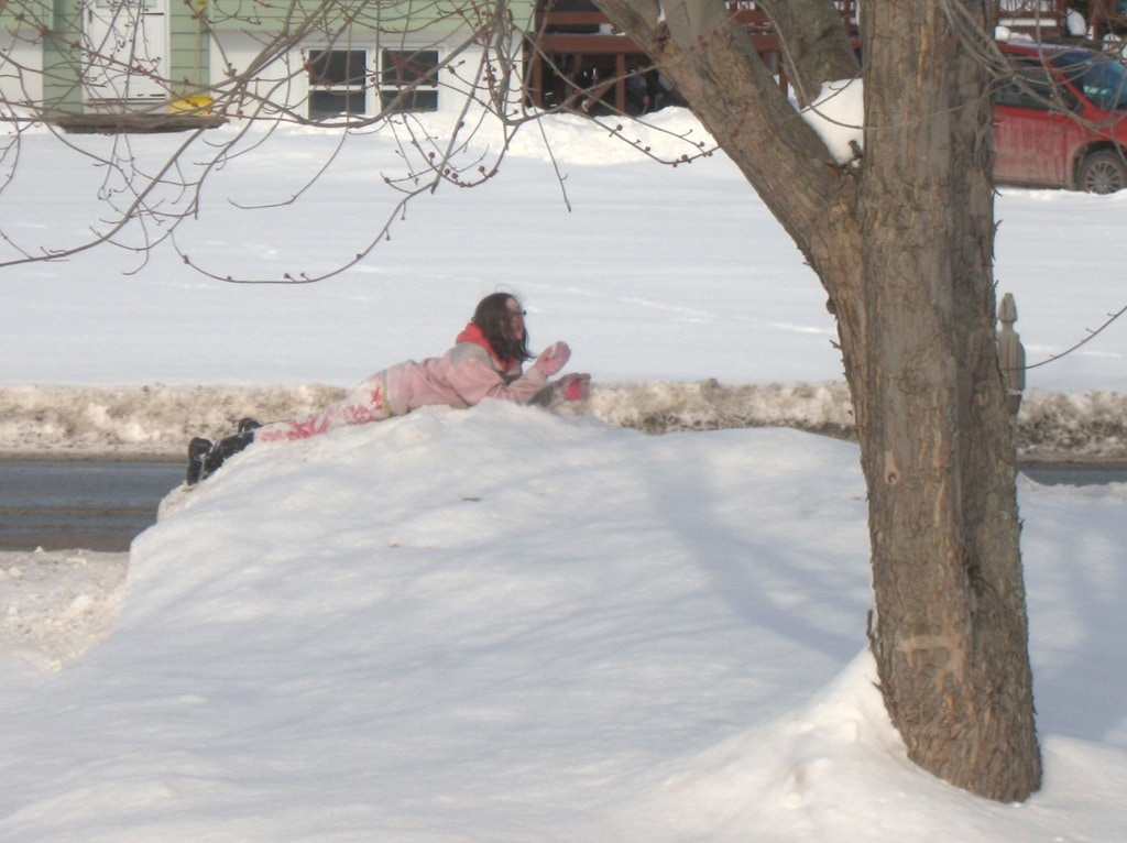 Wordless Wednesday–Relaxing in the Snow