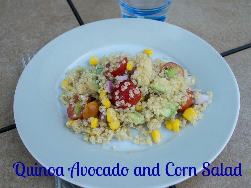 Quinoa Avocado and Corn Salad