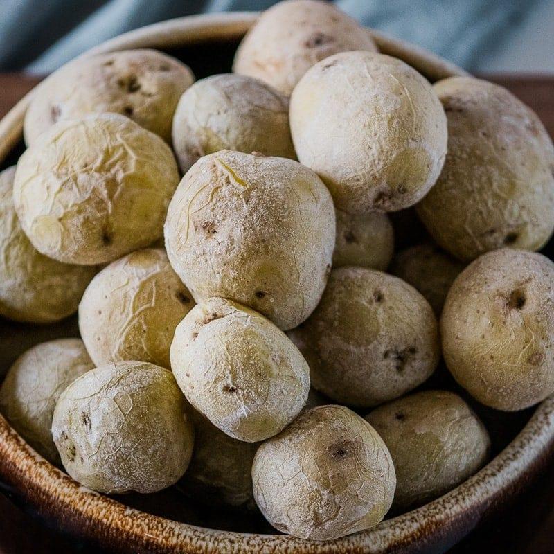 Big bowl of salt potatoes