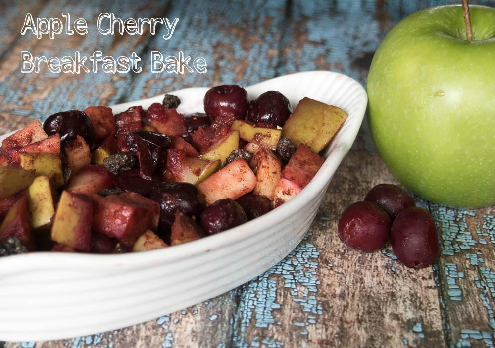 Apple Cherry Breakfast Bake Recipe #recipe