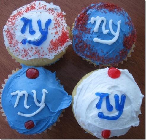 New York Giants Cupcakes