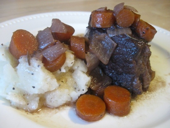 Beef Short Ribs Braised in Zinfandel with Potatoes