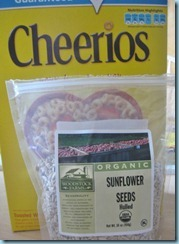 Cheerios and Sunflower Seeds