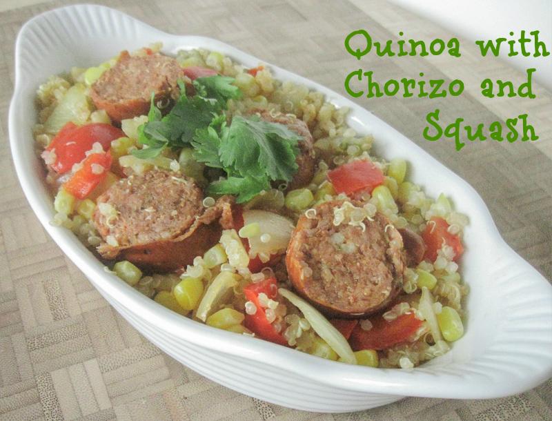 quinoa with chorizo and squash