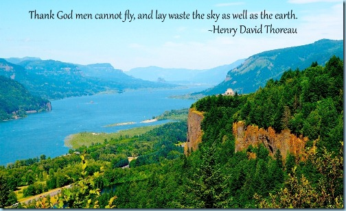 Thank God men cannot fly and lay waste the sky as well as the earth.  Henry David Thoreau