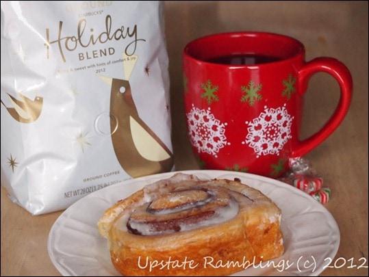 Starbucks Holiday Blend and Artisan Cinnamon Rolls