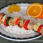 Healthy Chicken Kebobs with Orange Sauce Recipe