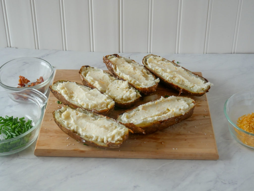 potatoes stuffed for baking