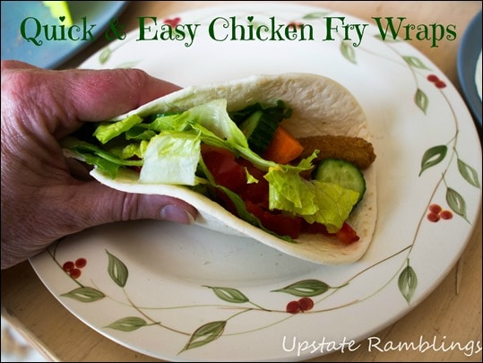 Quick and Easy Chicken Fry Wraps