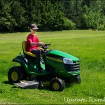 Wordless Wednesday–Mowing the Lawn