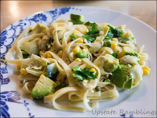 Linguine with Avocado and Artichoke Recipe - Quick Summer Meal