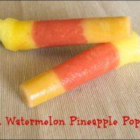 Peach Watermelon Pineapple Fruit Ice Pops