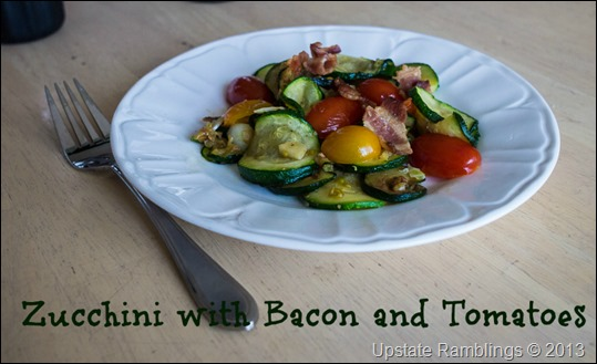 Zucchini with Bacon and Tomatoes