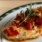 Chicken with Tomato Rosemary Pan Sauce